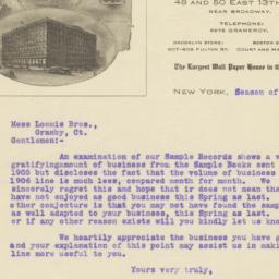 Richard E. Thibaut. Letter
