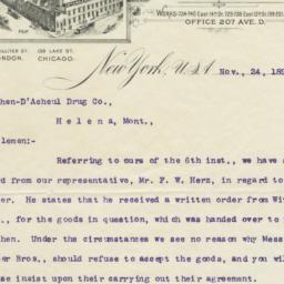 Standard Varnish Works. Letter