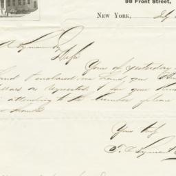 T. C. Lyman & Co.. Letter