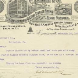 C. Schmidt & Co.. Letter