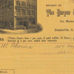 Harper & Cosgrave Co.. Bill