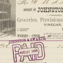 Johnston & Swartz. Bill
