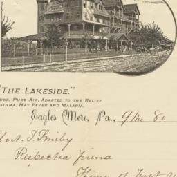 Lakeside. Letter