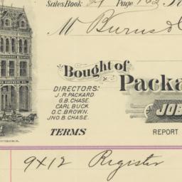 Packard Hardware Co.. Bill