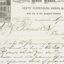 Chalfant, Jones & Co.. Letter