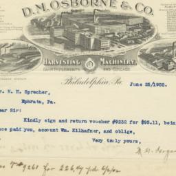 D. M. Osborne & Co.. Letter