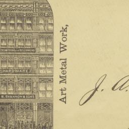 J. B. Shannon & Sons. Envelope