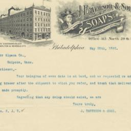 J. Eavenson & Sons. Letter