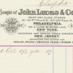 John Lucas & Co.. Bill