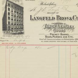 Langfeld Bros. & Co.. Bill