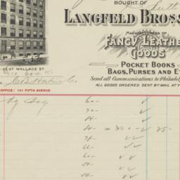 Langfeld Bros. & Co.. Bill