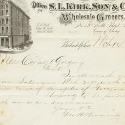 S. L. Kirk, Son & Co.. Letter