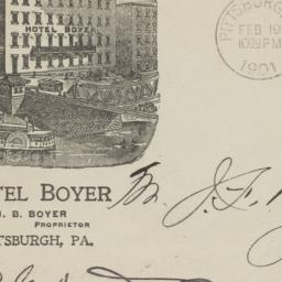 Hotel Boyer. Envelope