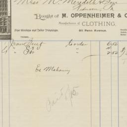 M. Oppenheimer & Co.. Bill