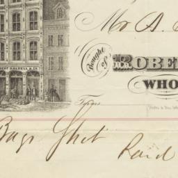 Robert Dalzell & Co.. Bill
