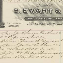 S. Ewart & Co.. Bill