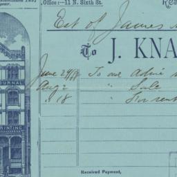 J. Knabb & Co.. Bill