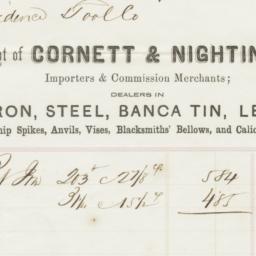 Cornet & Nightengale. Bill