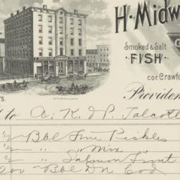 H. Midwood & Sons. Bill