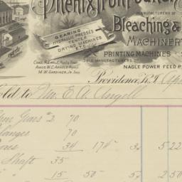 Phenix Iron Foundry. Bill