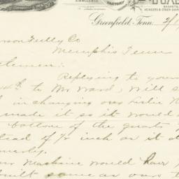 Ward-Kent Company. Letter