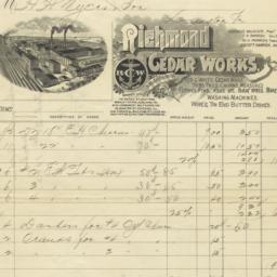 Richmond Cedar Works. Bill