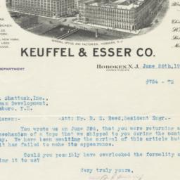 Keuffel & Esser Co.. Bill