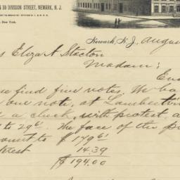 J. M. Quinby & Co.. Letter