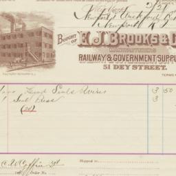 E. J. Brooks & Co.. Bill