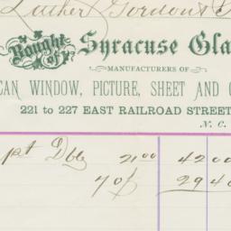 Syracuse Glass Co.. Bill