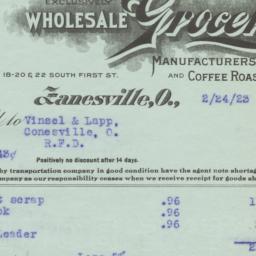 W. W. Harper Company. Bill