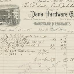 Dana Hardware Co.. Bill