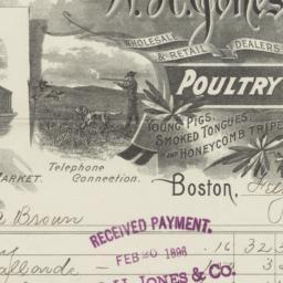 W. H. Jones & Co.. Bill