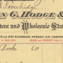 John G. Hodge & Co.. Bill