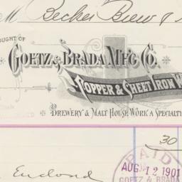 Goetz & Brada Mfg Co.. Bill