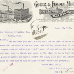Goetz & Flodin Mfg Co.. Bill