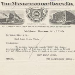 Mangelsdorf Bros. Co.. Letter