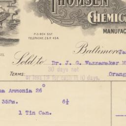 Thomsen Chemical Company. Bill