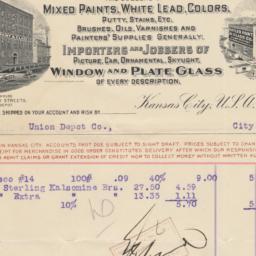 Cutler Paint & Glass Co.. Bill