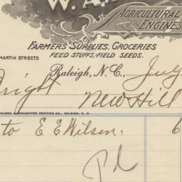 W. A. Myatt. Bill