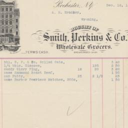 Smith, Perkins & Co.. Bill