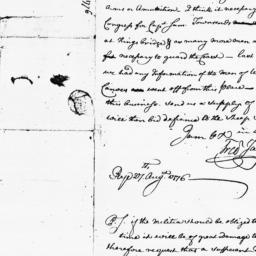 Document, 1776 August 27