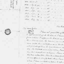 Document, 1820 October 05