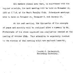 Announcements, 1952-11-11. ...