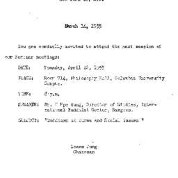 Announcements, 1955-03-24. ...