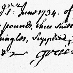 Document, 1734 June 01