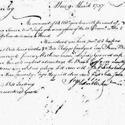 Document, 1737 March 09