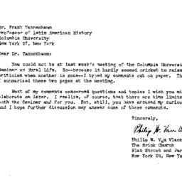 Correspondence, 1952-11-09....