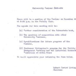 Announcements, 1954-12-06. ...