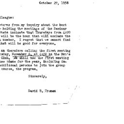 Correspondence, 1958-10-27....